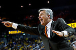 Feb. 12, 2012; Ann Arbor, MI, USA; Illinois Fighting Illini head coach Bruce Weber react in the first half against the Michigan Wolverines at Crisler Center. Mandatory Credit: Rick Osentoski-US PRESSWIRE
