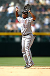 26 August 2007:  Washington Nationals second baseman Ronnie Belliard in action against the Colorado Rockies at Coors Field in Denver, Colorado. The Rockies defeated the Nationals 10-5 to sweep the 3-game series...Mandatory Photo Credit: Ed Wolfstein Photo