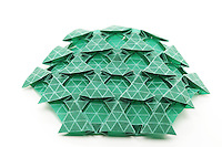 New York, NY, USA - November 2, 2011: Origami tessellation designed by Eric gjerde and folded by Esmé Cribb.