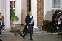 United States President-elect Donald Trump departs the clubhouse of Trump International Golf Club, in Bedminster Township, New Jersey, USA, 20 November 2016.<br /> Credit: Peter Foley / Pool via CNP /MediaPunch
