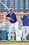 6 March 2006: Pat Borders, catcher for the Los Angeles Dodgers, prior to a Spring Training game against the Washington Nationals. The Nationals and Dodgers played to a scoreless tie at Holeman Stadium, in Vero Beach Florida...Mandatory Photo Credit: Ed Wolfstein..