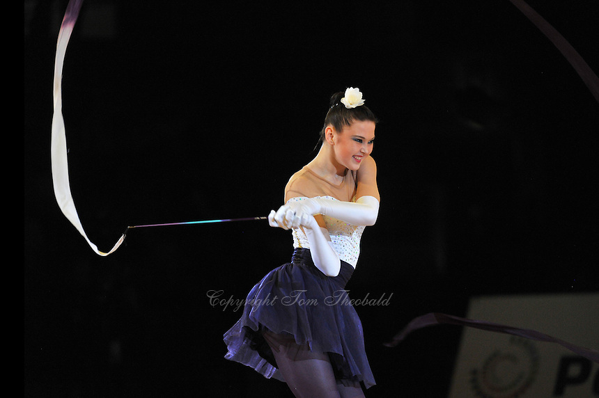 Alina Maksymenko of Ukraine performs gala at 2011 World Cup at Portimao, Portugal on May 01, 2011.