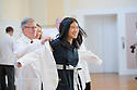 Dean Rick Morin, M.D., left, Yun-Yun Chen. Class of 2016 White Coat Ceremony.
