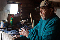 A former commercial fisherman gives a tour at Edisen Fishery at Isle Royale National Park.