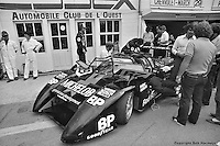 Bobby Rahal waits in the pit lane to drive the March 82G at the 1982 24 Hours of Le Mans.