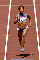 Christine Arron ran 11.27sec. in the 1st. round of the 100m. on Sunday, August 26, 2007.Photo by Errol Anderson, The Sporting Image.