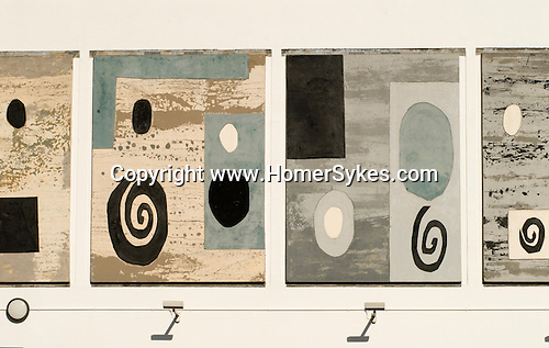 The John Piper Murals. The Piper Building. Fulham London UK.