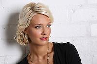 Beautiful Blond Fashion Model Portrait