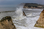 Winter surf at Freshwater Bay on the Isle of Wight.