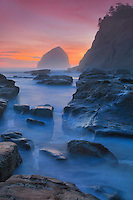 Cape Kiwanda - Haystack And Tide Pools - Oregon Coast - Dusk