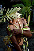 Traditional dances are a central part of the Yap culture. The decorations for the dance make imaginative use of natural materials to excellent effect, Yap Micronesia. (Photo by Matt Considine - Images of Asia Collection)