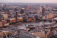 River Thames, view from Vertigo 42, City, London, Great Britain, UK