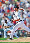 9 March 2012: Detroit Tigers pitcher David Pauley on the mound during a Spring Training game against the Philadelphia Phillies at Joker Marchant Stadium in Lakeland, Florida. The Phillies defeated the Tigers 7-5 in Grapefruit League action. Mandatory Credit: Ed Wolfstein Photo