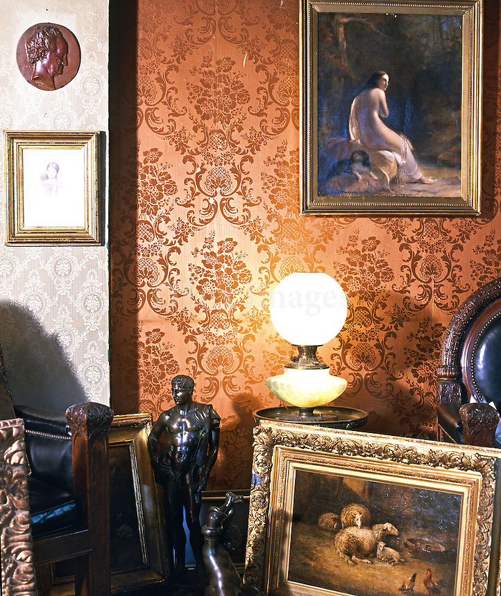 This duplex apartment  in a neo-Gothic building on West 67th Street in Manhattan is decorated with figurative art and Renaissance furnishings, modern ceramics and an inherited piano.