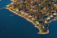 Connecticut, Stamford, Shippan Point, Aerial