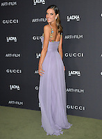 LOS ANGELES, CA. October 29, 2016: Model Alessandra Ambrosio at the 2016 LACMA Art+Film Gala at the Los Angeles County Museum of Art.<br /> Picture: Paul Smith/Featureflash/SilverHub 0208 004 5359/ 07711 972644 Editors@silverhubmedia.com