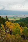 Kootenai River winding through the valley in northern Idaho