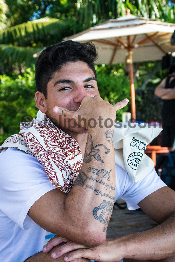 Namotu Island Resort, Namotu, Fiji. (Saturday May 31, 2014) Gabriel Medina (BRA) –  The official Opening Ceremony for the 2014 Fiji Pro was held this afternoon on Tavarua Island with a tradition blessing and kava ceremony for the officials and Top 34 surfers. Photo: joliphotos.com
