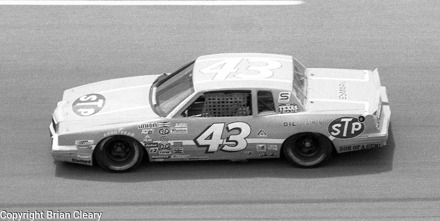 Richard Petty 43 action Firecracker 400 at Daytona International Speedway in Daytona Beach, FL on July 4, 1983. (Photo by Brian Cleary/www.bcpix.com)