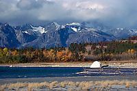 Cariboo Chilcotin Coast Region, BC, British Columbia, Canada - Coast Mountains at Choelquoit Lake, Autumn / Fall