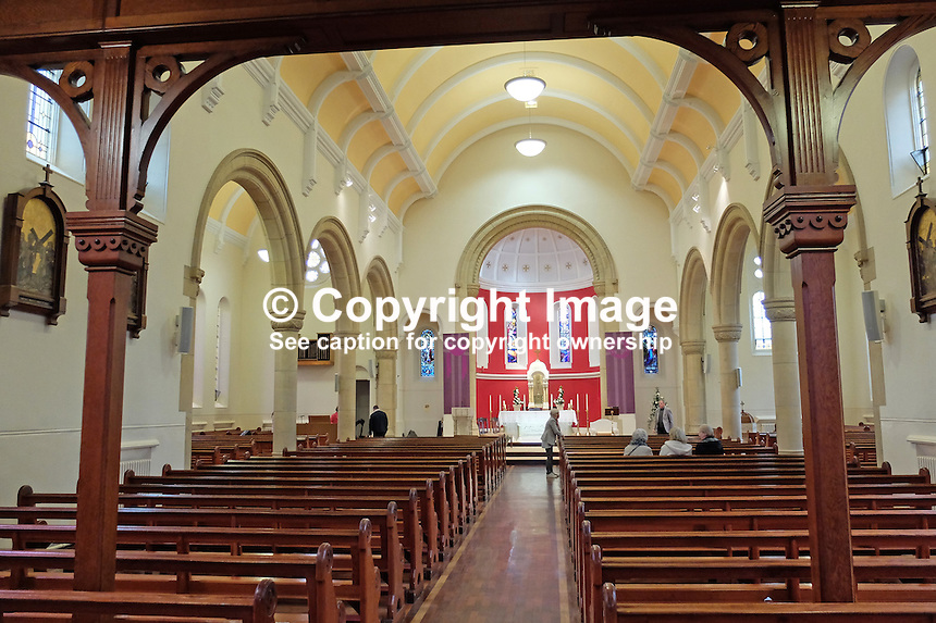 Interior, Pennyburn Chapel, Londonderry, N Ireland, UK, 201503060504<br /> <br /> Copyright Image from Victor Patterson, 54 Dorchester Park, Belfast, UK, BT9 6RJ<br /> <br /> t: +44 28 9066 1296<br /> m: +44 7802 353836<br /> vm +44 20 8816 7153<br /> <br /> e1: victorpatterson@me.com<br /> e2: victorpatterson@gmail.com<br /> <br /> www.victorpatterson.com<br /> <br /> IMPORTANT: Please see my Terms and Conditions of Use at www.victorpatterson.com