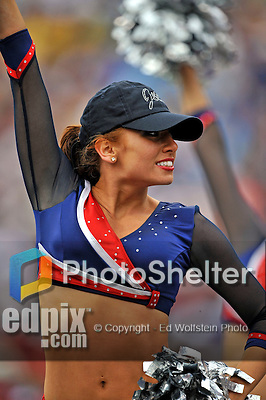 7 September 2008:  A Buffalo Bills cheerleader entertains the crowd during a game against the Seattle Seahawks at Ralph Wilson Stadium in Orchard Park, NY. The Bills defeated the Seahawks 34-10 in the season opening game...Mandatory Photo Credit: Ed Wolfstein Photo