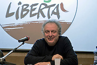 Rome, Italy 16th Janury 2016<br /> Paolo Cento secretary of the metropolitan area of Rome, during the assembly of the national party of  Left Ecology and Freedom.