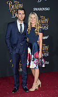 Matthew Lewis &amp; Angela Jones at the premiere for Disney's &quot;Beauty and the Beast&quot; at El Capitan Theatre, Hollywood. Los Angeles, USA 02 March  2017<br /> Picture: Paul Smith/Featureflash/SilverHub 0208 004 5359 sales@silverhubmedia.com