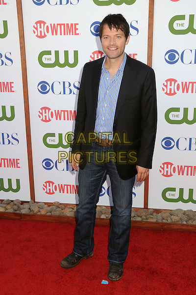 Misha Collins.CBS, CW and Showtime Summer 2011 TCA Party held at The Pagoda, Beverly Hills, California, USA..August 3rd, 2011.full length blue shirt jeans denim back jacket.CAP/ADM/BP.©Byron Purvis/AdMedia/Capital Pictures.
