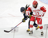 Brooke Ludolph (Windsor - 13), Kaleigh Fratkin (BU - 13) - The Boston University Terriers defeated the visiting University of Windsor Lancers 4-1 in a Saturday afternoon, September 25, 2010, exhibition game at Walter Brown Arena in Boston, MA.