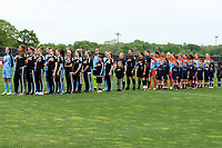 Piscataway, NJ - Saturday May 20, 2017: Sky Blue FC starters, match officials, Houston Dash starters prior to a regular season National Women's Soccer League (NWSL) match between Sky Blue FC and the Houston Dash at Yurcak Field.  Sky Blue defeated Houston, 2-1.