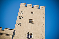 Traditional Italian style defensive tower, Regensburg, Germany