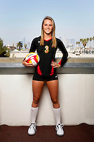 10 August 2010:  #3 Natalie Hagglund  on the Pac-10 NCAA College Women's Volleyball team for the USC Trojans Women of Troy photographed at the Galen Center on Campus in Southern California. .Images are for Personal use only.  No Model Release, No Property Release, No Commercial 3rd Party use. .Photo Credit should read: &copy;2010ShellyCastellano.com