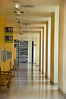 The California, Science Center, Hallway, Stanchions, Interior, Creating, a Design, Pattern,