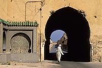 Meknes, Morocco.  Islamic architecture.