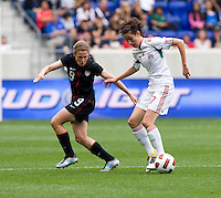Heather O'Reilly, Tania Morales. The USWNT defeated Mexico, 1-0, during the game at Red Bull Arena in Harrison, NJ.