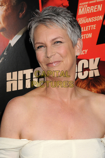 "Jamie Lee Curtis.""Hitchcock"" Los Angeles Premiere held at the AMPAS Samuel Goldwyn Theater, Beverly Hills, California, USA..November 20th, 2012.headshot portrait bare shoulders off the shoulder white.CAP/ADM/BP.©Byron Purvis/AdMedia/Capital Pictures."
