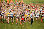 21 NOV 2011: The women's field leaves the startline during the Division I Women's Cross Country Championship held at the Wabash Valley Family Sports Center in Terre Haute, IN. Georgetown University won the team national title. Brett Wilhelm/NCAA Photos.