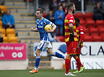 St Johnstone v Partick Thistle....17.10.15  SPFL     McDiarmid Park, Perth<br /> Steven MacLean celebrates his goal<br /> Picture by Graeme Hart.<br /> Copyright Perthshire Picture Agency<br /> Tel: 01738 623350  Mobile: 07990 594431