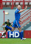 Hamilton Accies v St Johnstone..23.10.10  .Sam Parkin celebrates his goal.Picture by Graeme Hart..Copyright Perthshire Picture Agency.Tel: 01738 623350  Mobile: 07990 594431