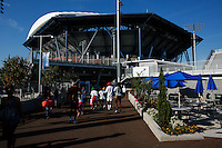 NEW YORK, NY AUG 27: People visit  the USTA Billie Jean King National Tennis Center in Flushing Meadows, on August 27, 2016 in New York City. (Photo by VIEWpress)