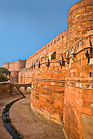 Detail of the exterior wall of the UNESCO World Hertitage listed Red Fort, at one time the residence of the Emperor Shah Jahan. (Photo by Matt Considine - Images of Asia Collection)