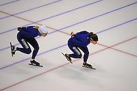 SCHAATSEN: HEERENVEEN: 15-09-2014, IJsstadion Thialf, Topsporttraining, Yvonne Nauta, Ireen Wüst, ©foto Martin de Jong