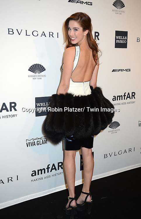 Melissa Bolona attends the amfAR New York Gala on February 5, 2014 at Cipriani Wall Street in New York City.