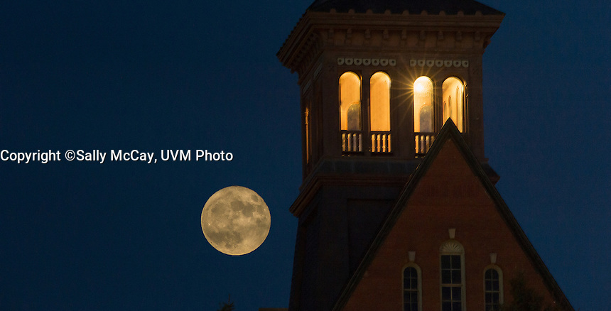Supermoon rises over Old Mill