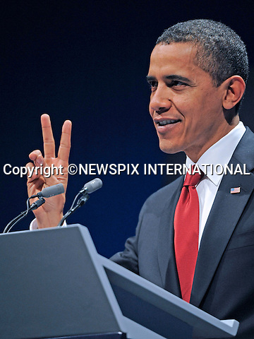 "PRESIDENT BARACK OBAMA.gives a press conference at the end of the G20 Summit, Excel Centre, London_02/04/2009.Photo: Newspix International..**ALL FEES PAYABLE TO: ""NEWSPIX INTERNATIONAL""**..PHOTO CREDIT MANDATORY!!: NEWSPIX INTERNATIONAL(Failure to credit will incur a surcharge of 100% of reproduction fees)..IMMEDIATE CONFIRMATION OF USAGE REQUIRED:.Newspix International, 31 Chinnery Hill, Bishop's Stortford, ENGLAND CM23 3PS.Tel:+441279 324672  ; Fax: +441279656877.Mobile:  0777568 1153.e-mail: info@newspixinternational.co.uk"