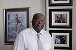 BLOEMFONTEIN, SOUTH AFRICA APRIL 18, 2013: Professor Jonathan Jansen poses for a portrait in his office at the University of the Free State in Bloemfontein, South Africa. Photo by: Per-Anders Pettersson