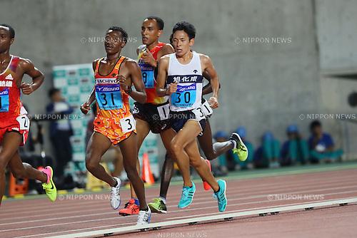 Takashi Ichida, <br /> SEPTEMBER 24, 2016 - Athletics : <br /> The 64th All Japan Industrial Athletics Championship <br /> Men's 10000m <br /> at Yanmar Stadium Nagai, Osaka, Japan. <br /> (Photo by YUTAKA/AFLO SPORT)