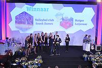SPORT ALGEMEEN: HEERENVEEN: 17-02-2016, Sportgala Fryslân, VC Sneek verkozen tot Sportploeg van het Jaar, met hun Assistent Rutger Leijenaar, ©foto Martin de Jong