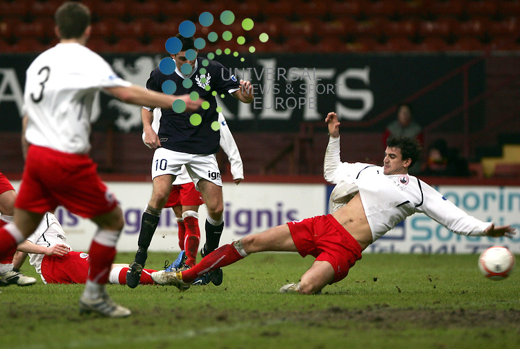 Partick Thistle v Stirling Albion.Firhill Stadium..Saturday 15th January 2011 - Score .Irn Bru 1st Division.Kris Doolan opens the scoring for Thistle.www.universalnewsandsport.com.(0ffice) 0844 884 51 22...